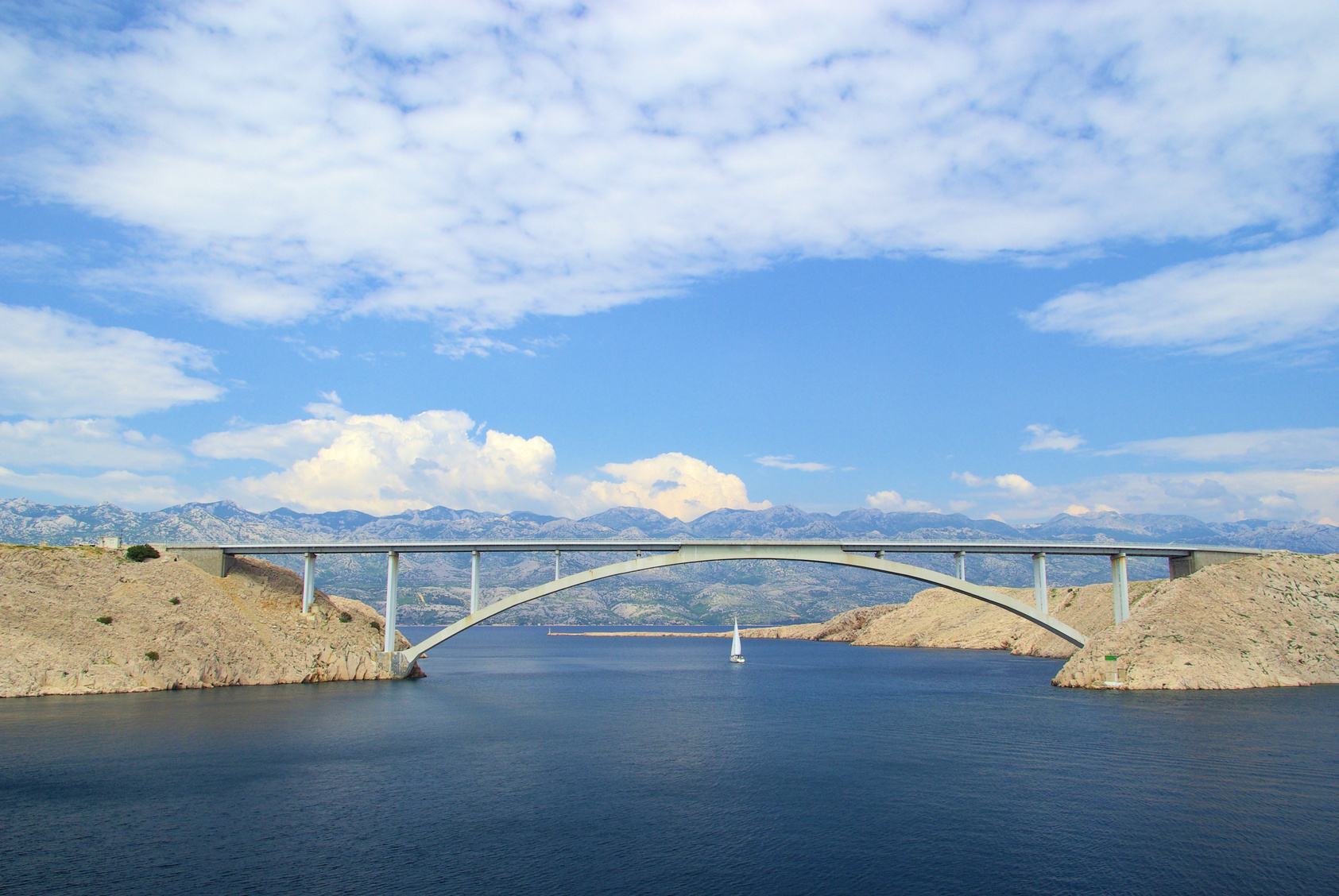 Pag island bridge wind