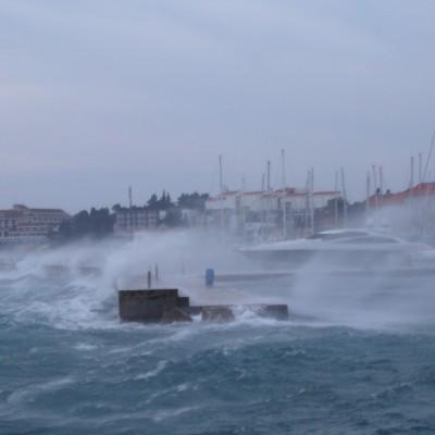 Bura raging in the Adriatic