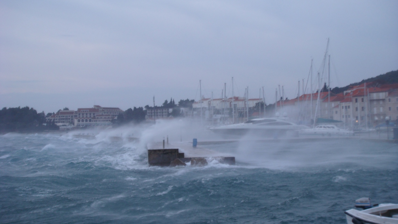 Bura raging in the Adriatic