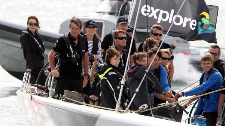 People on a sailing yacht