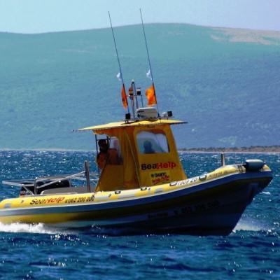 A sea help boat
