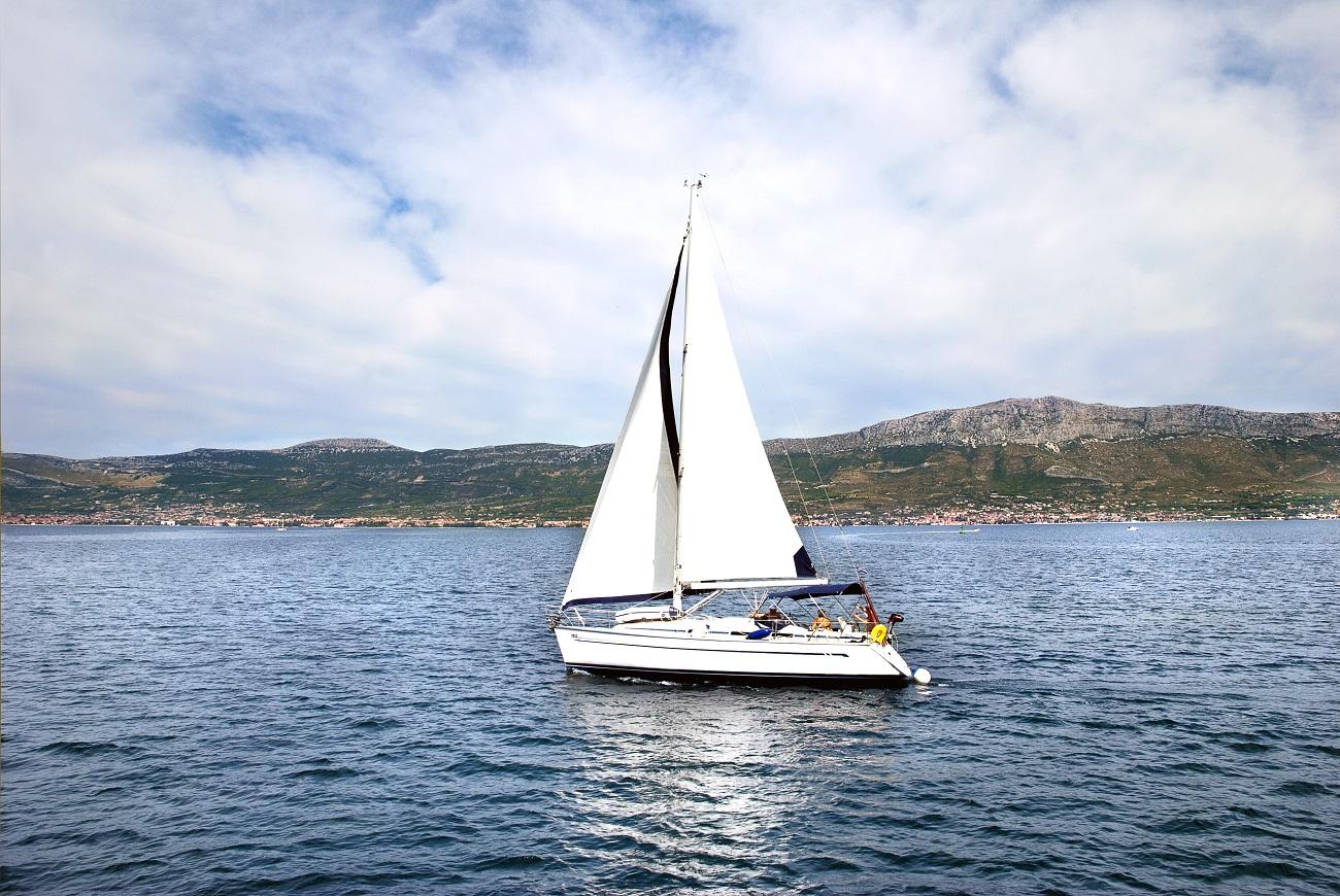 A sailing yacht