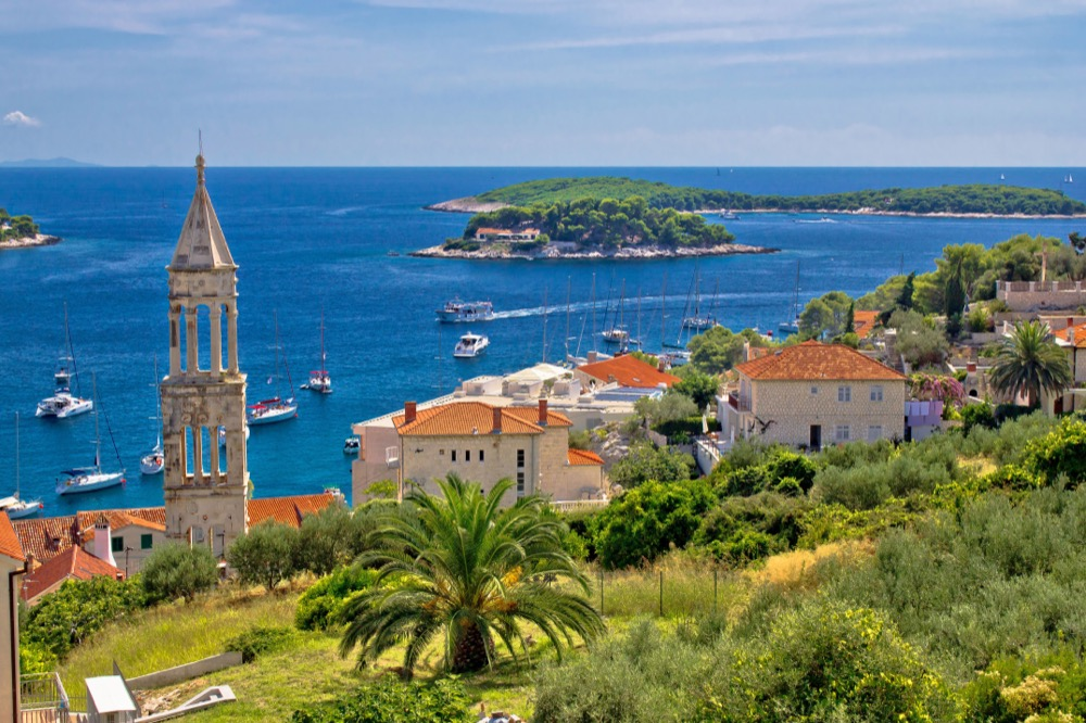 Hvar with the view over Paklinski Islands