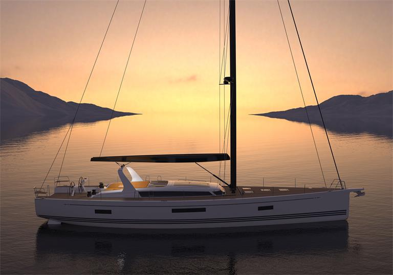 A model of an X-Yacht