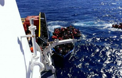Rescuing immigrants in the sea
