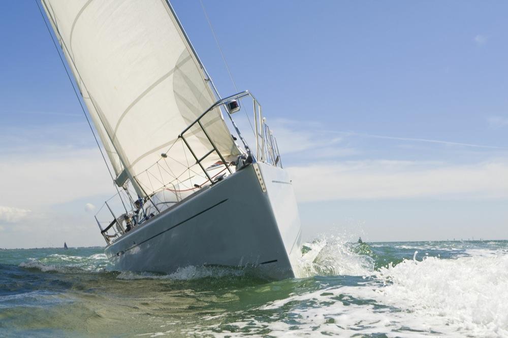 A monohull sailing yacht