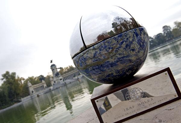 The trophy in Parque del Retiro