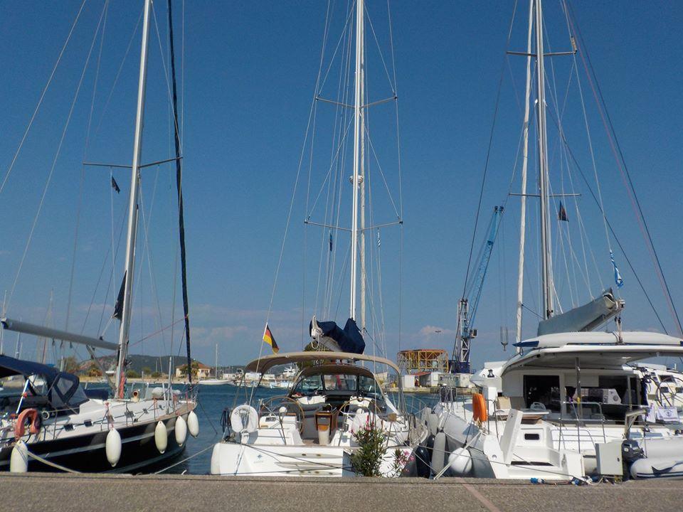 A yacht charter marine