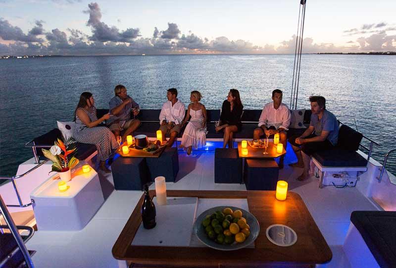 People enjoying life on a boat