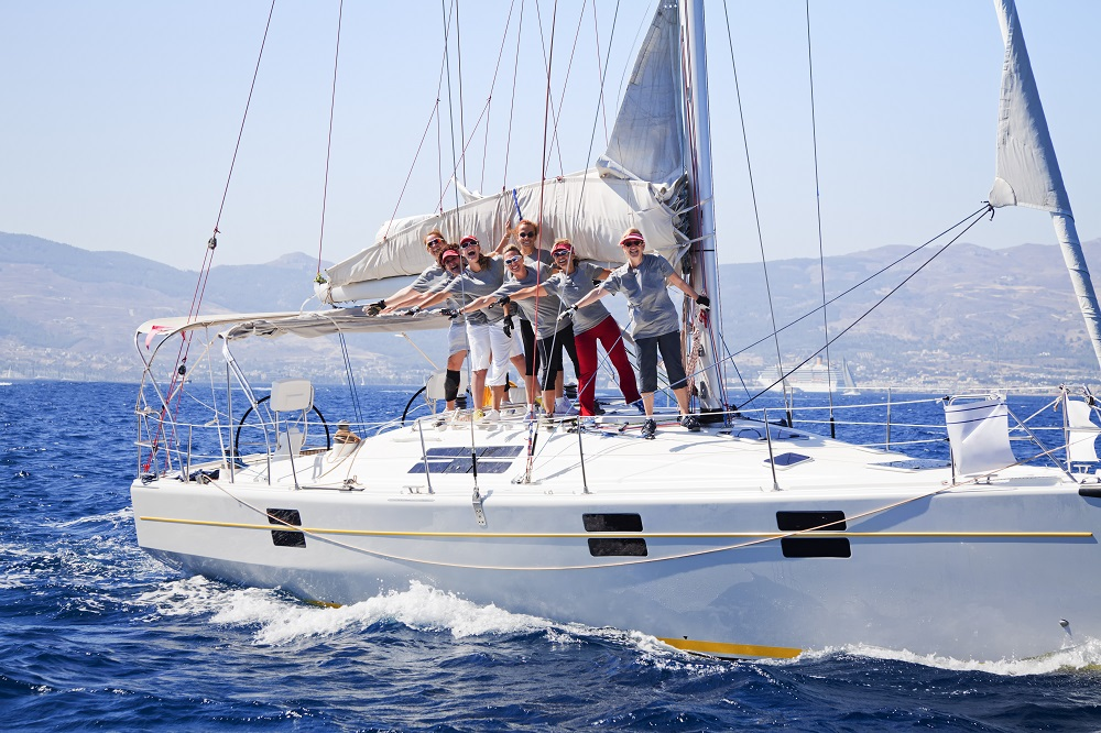 People on a yacht