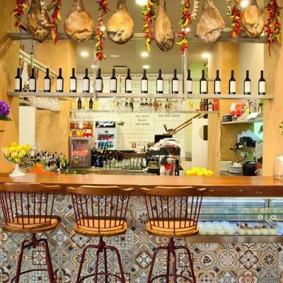 The interior of Bokeria restaurant
