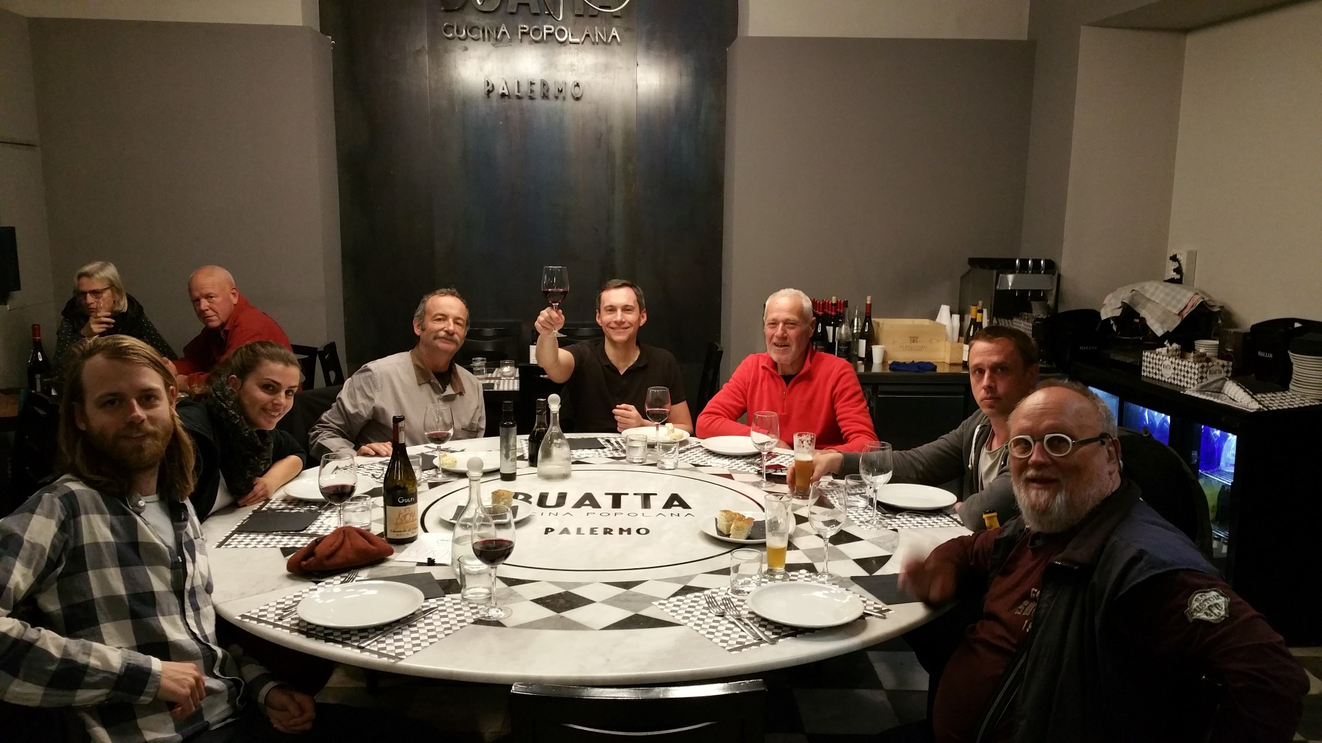 old crew Palermo_farewell dinner