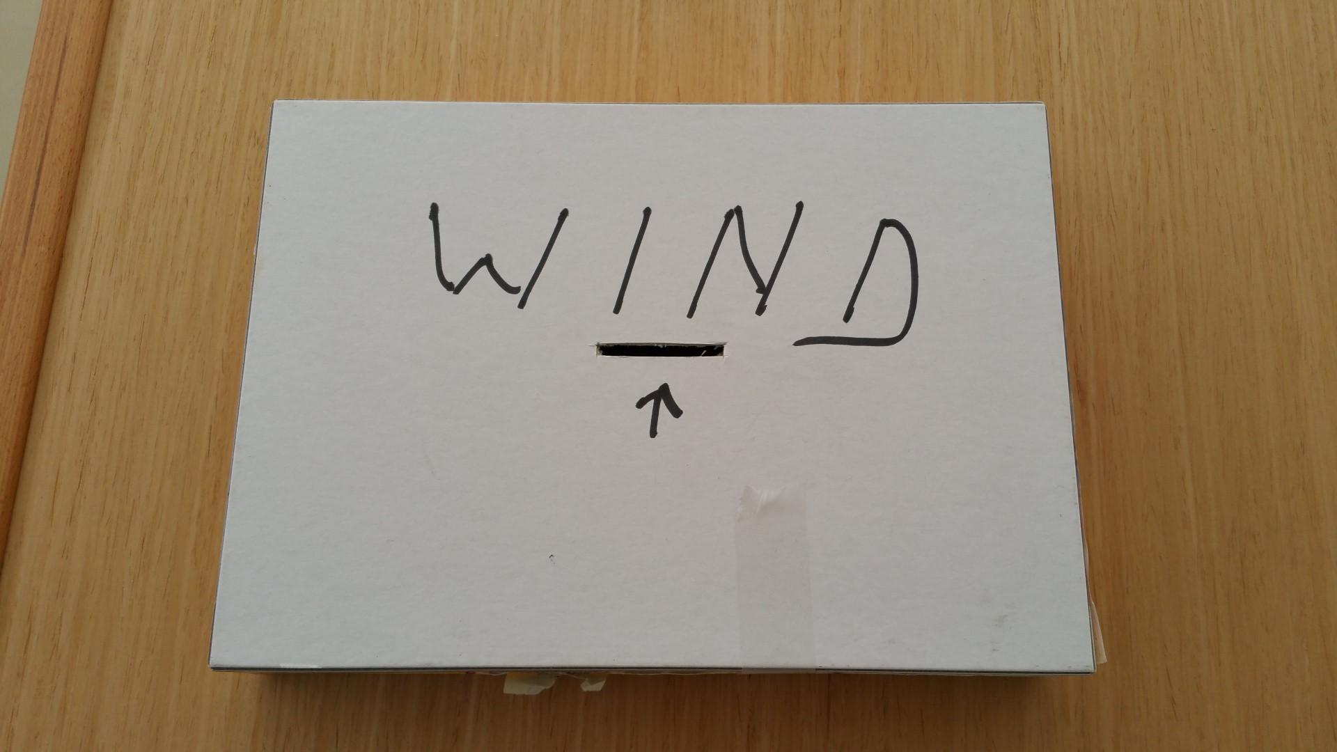 Wind (written on paper)