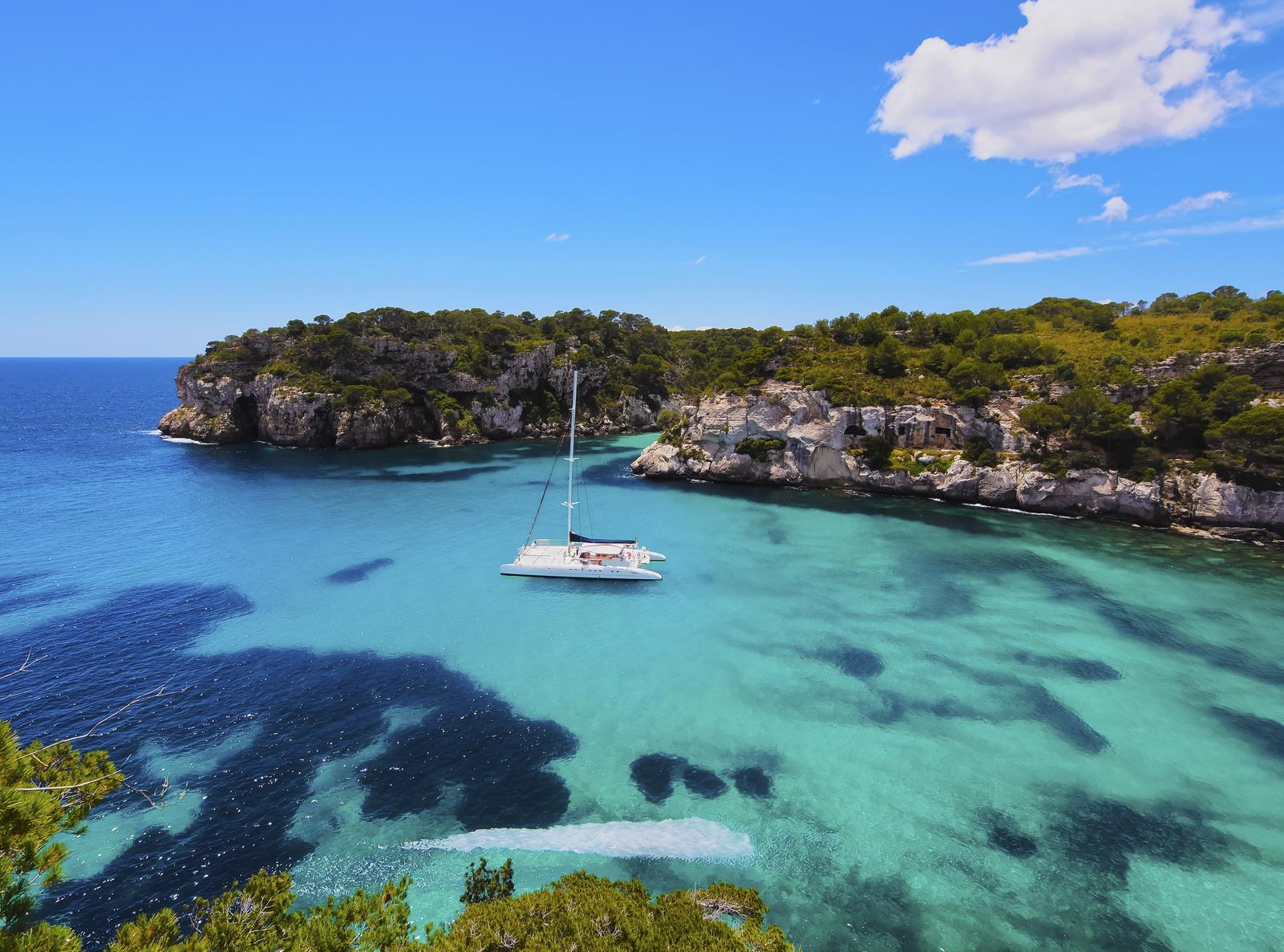 Catamaran in the Mediterranean