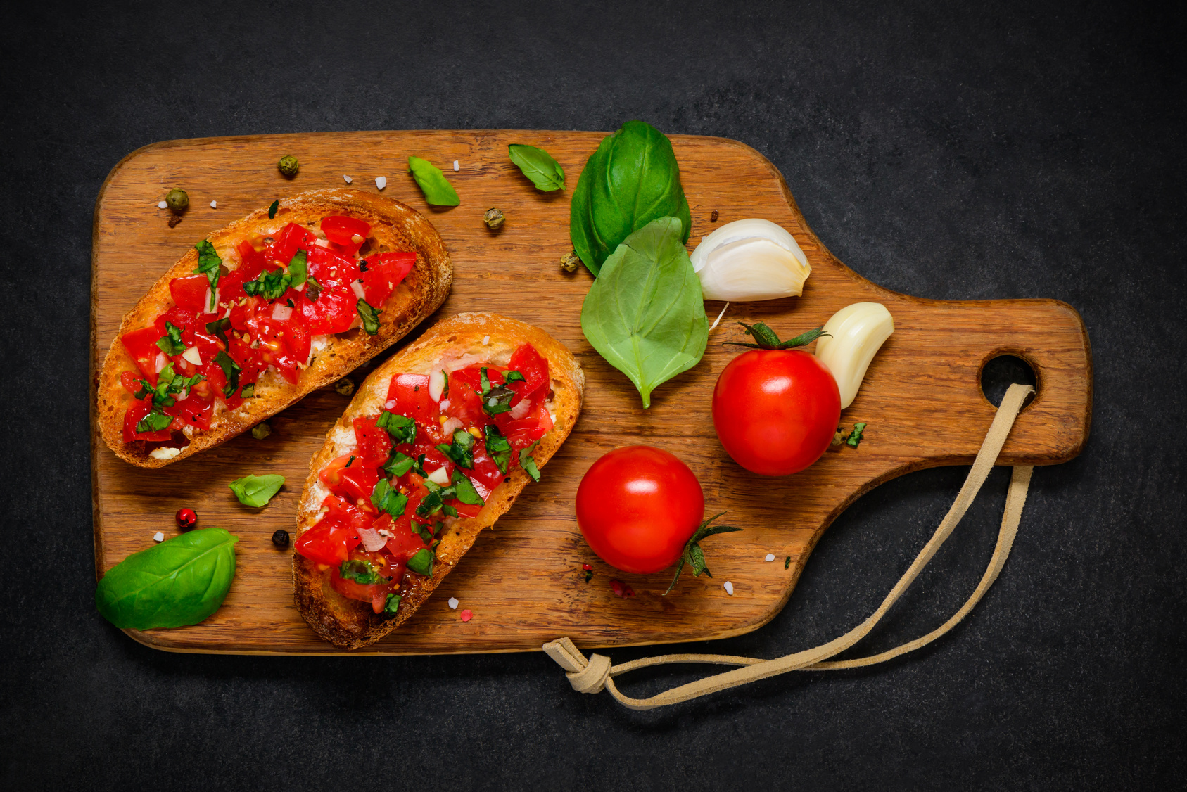 Simple meals - Bruschetta with Fresh Tomato and Basil