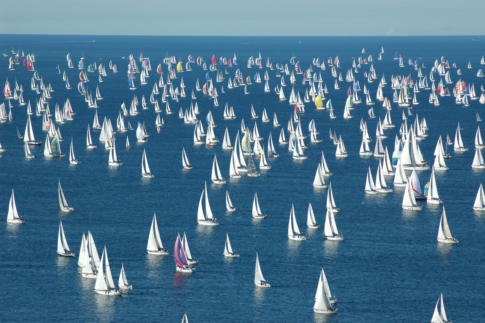 Regattas, sailing race, sailing yachts