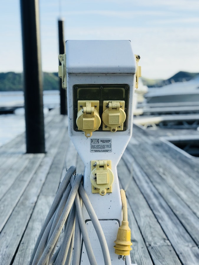 electricity-electric-power-socket-marina-sailing-yacht