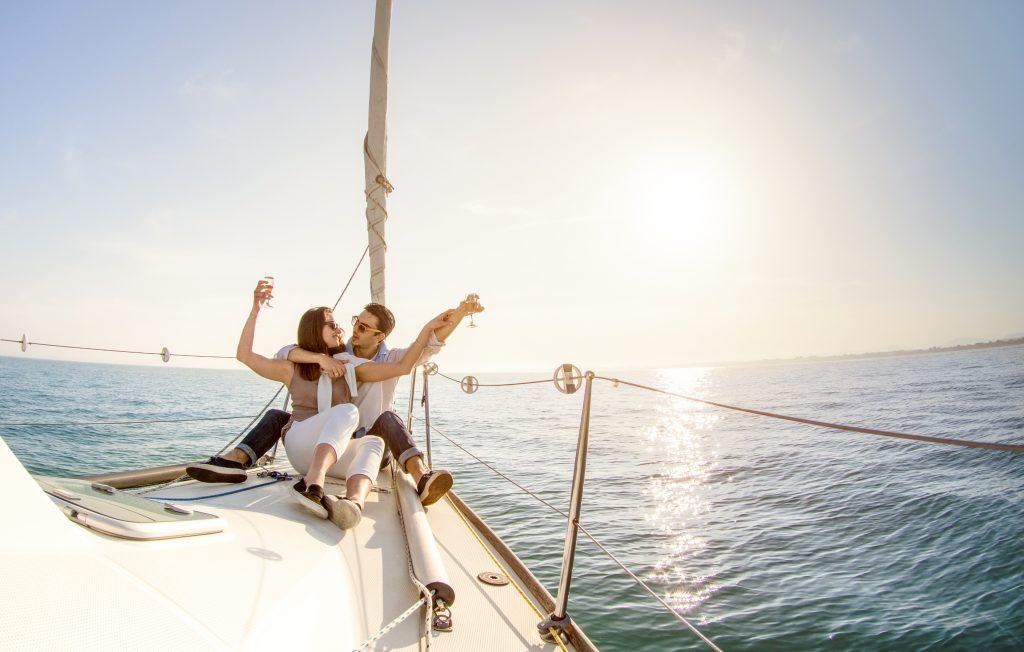 A couple sailing