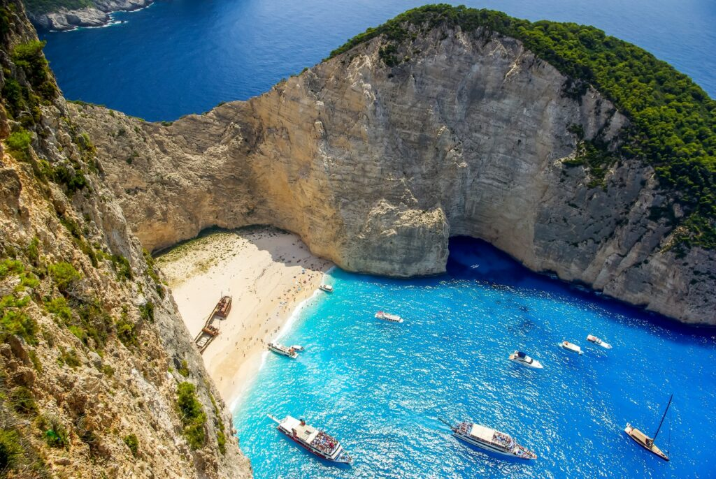 Navagio beach, Zakynthos island in Greece. Shipwreck is one of the most beautiful Greek beaches.