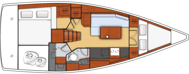 One of Oceanis 35.1cabin version