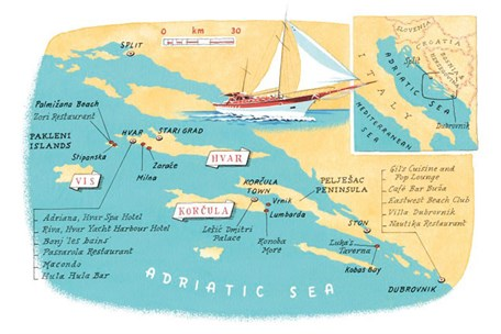 Croatia Island Hopping Routes